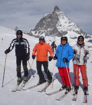 Cervinia – Zermatt, 12 -:- 18 apr 2015 – Renato, Giovanni, Pietro, Roberto dopo 36 anni ancora insieme in Val d'Aosta ©