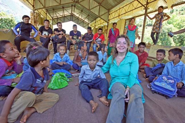 Raffaella Milandri in Nepal