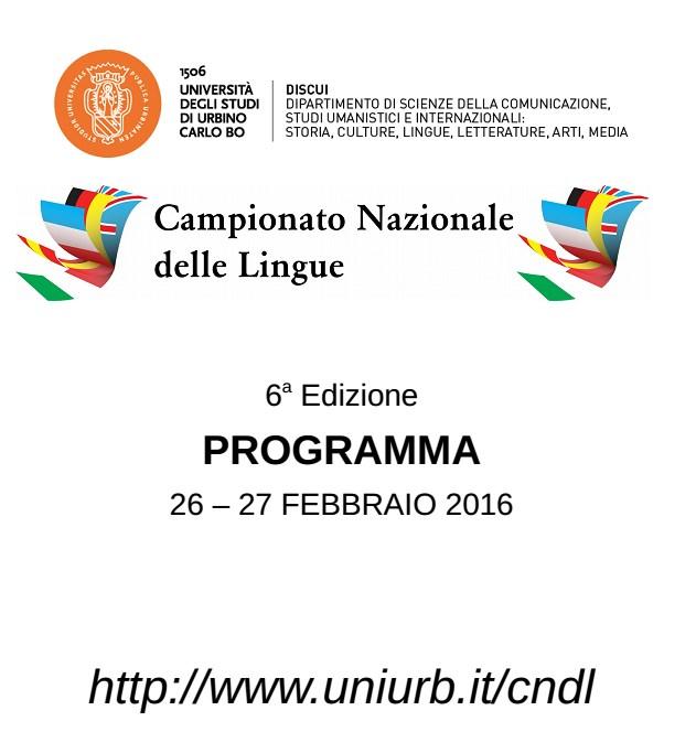 In arrivo a Urbino i 120 finalisti del campionato Italiano delle Lingue