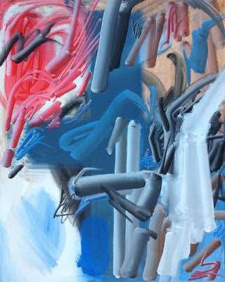 Giovanni Manunta Pastorello, Senza Titolo, acrilico su tela, 2015, 80x100 cm