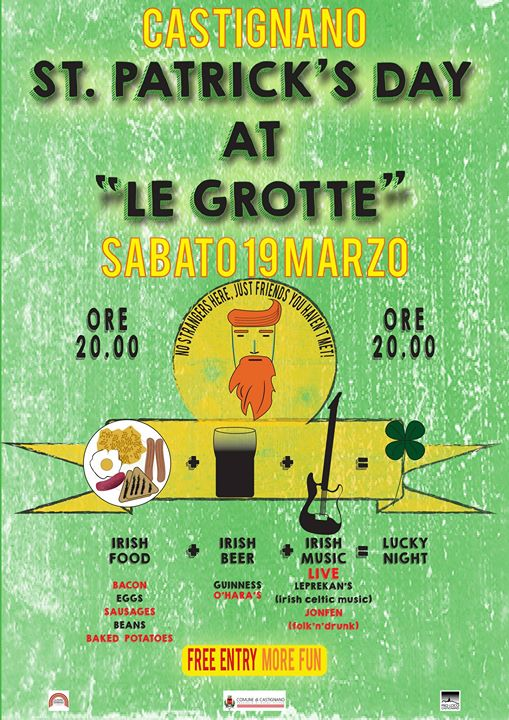 "Castignano: St. Patrick's day at ""Le Grotte"""