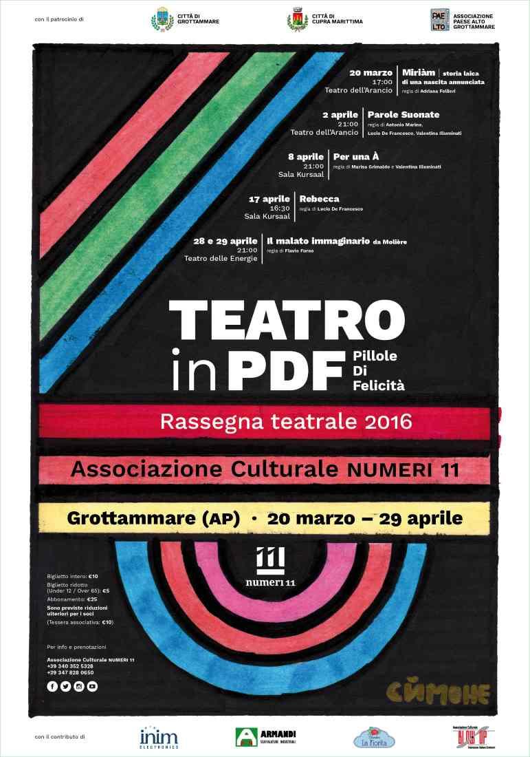 Teatro in Pdf: pillole di felicità