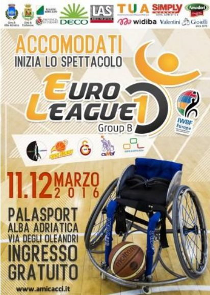 L'Amicacci ospita l'Euroleague 1: si gioca venerdì e sabato