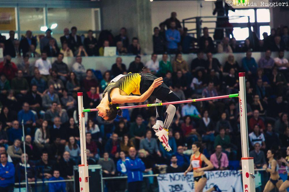 Gianmarco Tamberi superstar dei Campionati Italiani Assoluti Indoor di Ancona con 2.36