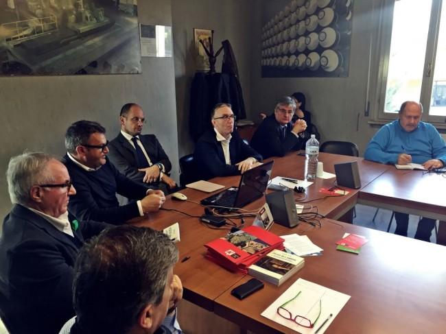 Luca Ceriscioli visita il sito ex-Carbon