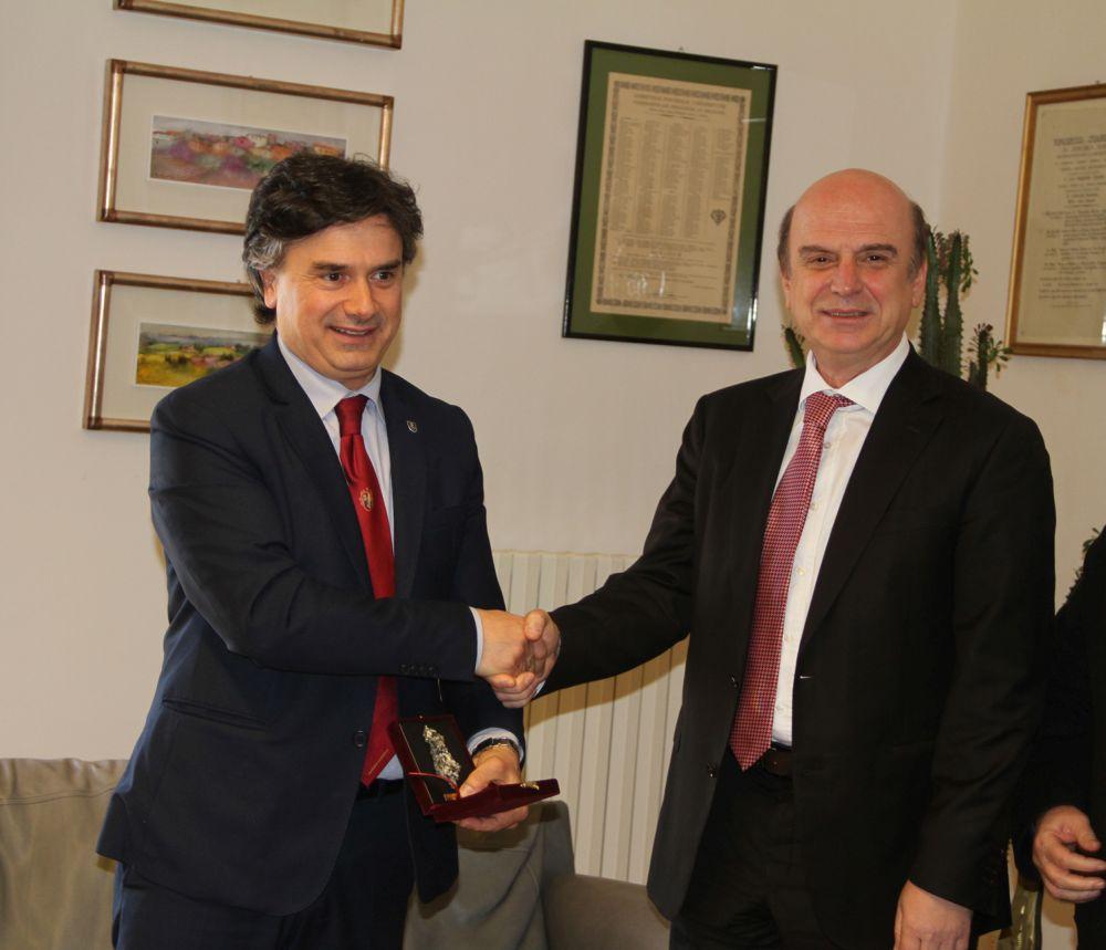 Il Rettore Corradini incontra il Ministro dell'Agricoltura dell'Albania