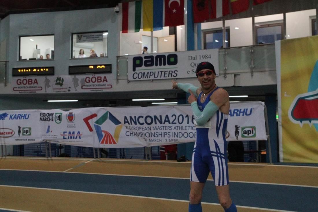 Mario Longo mondiale agli Europei Master