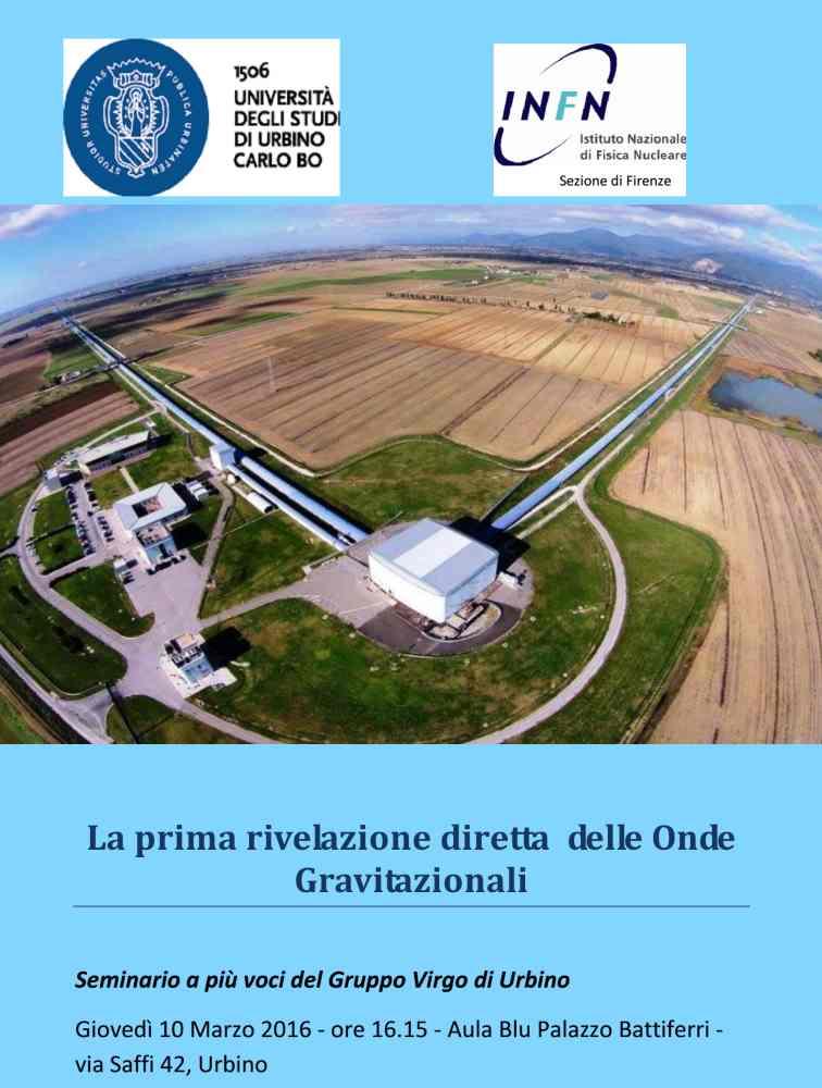 La prima rivelazione diretta delle onde gravitazionali