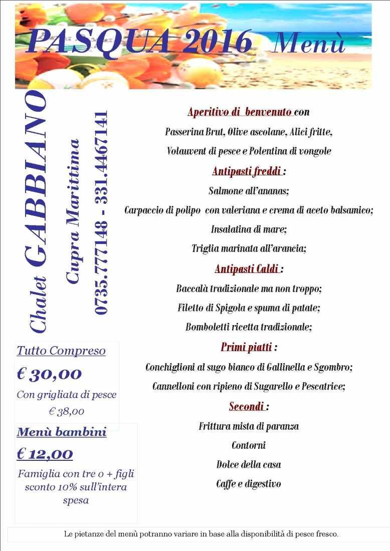 Chalet Gabbiano, a Pasqua  riapre il ristorante con menu ampio e interessante