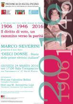 Marco Severini, Dieci donne - storie delle prime donne elettrici italiane