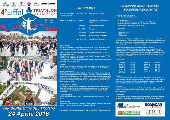 "Eiffel Triathlon Olimpico ""Memorial Gino Orsini"""
