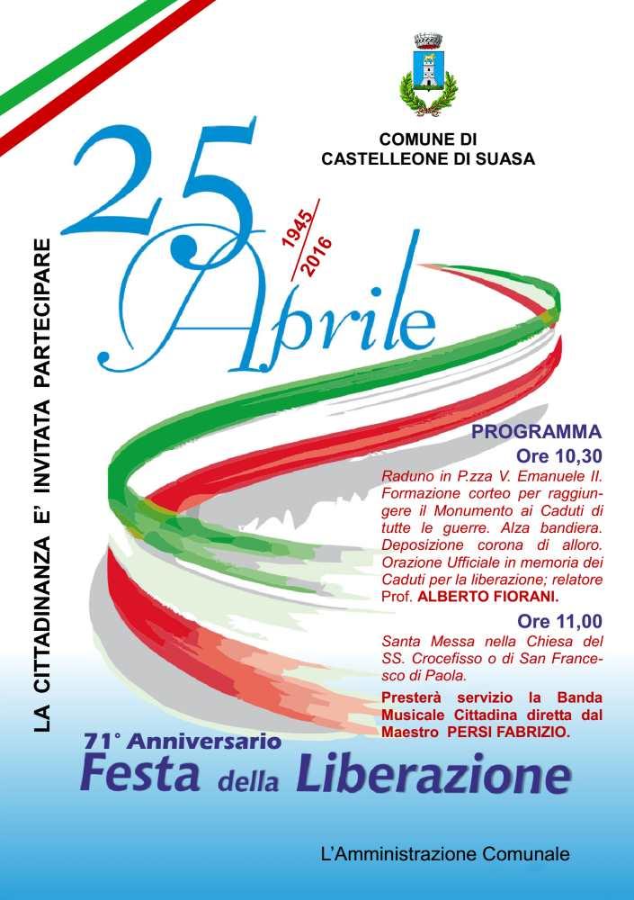 71mo anniversario della Festa della Liberazione a Castelleone