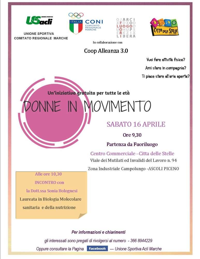 Donne in movimento torna ad Ascoli Piceno