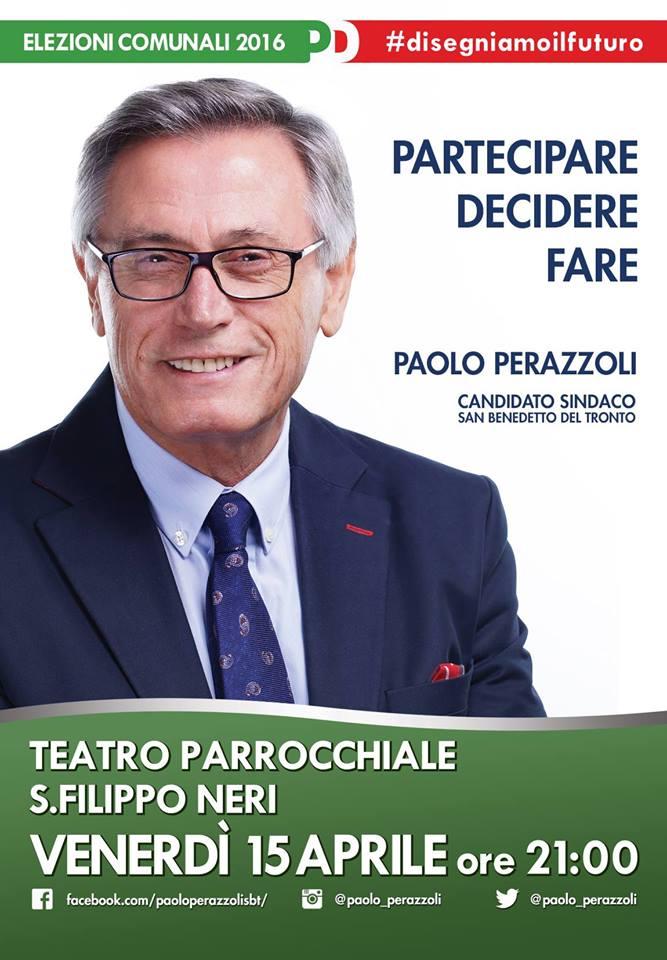 Incontro con Paolo Perazzoli al Teatro San Filippo Neri