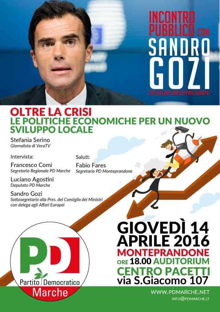 Il sottosegretario Sandro Gozi a Monteprandone