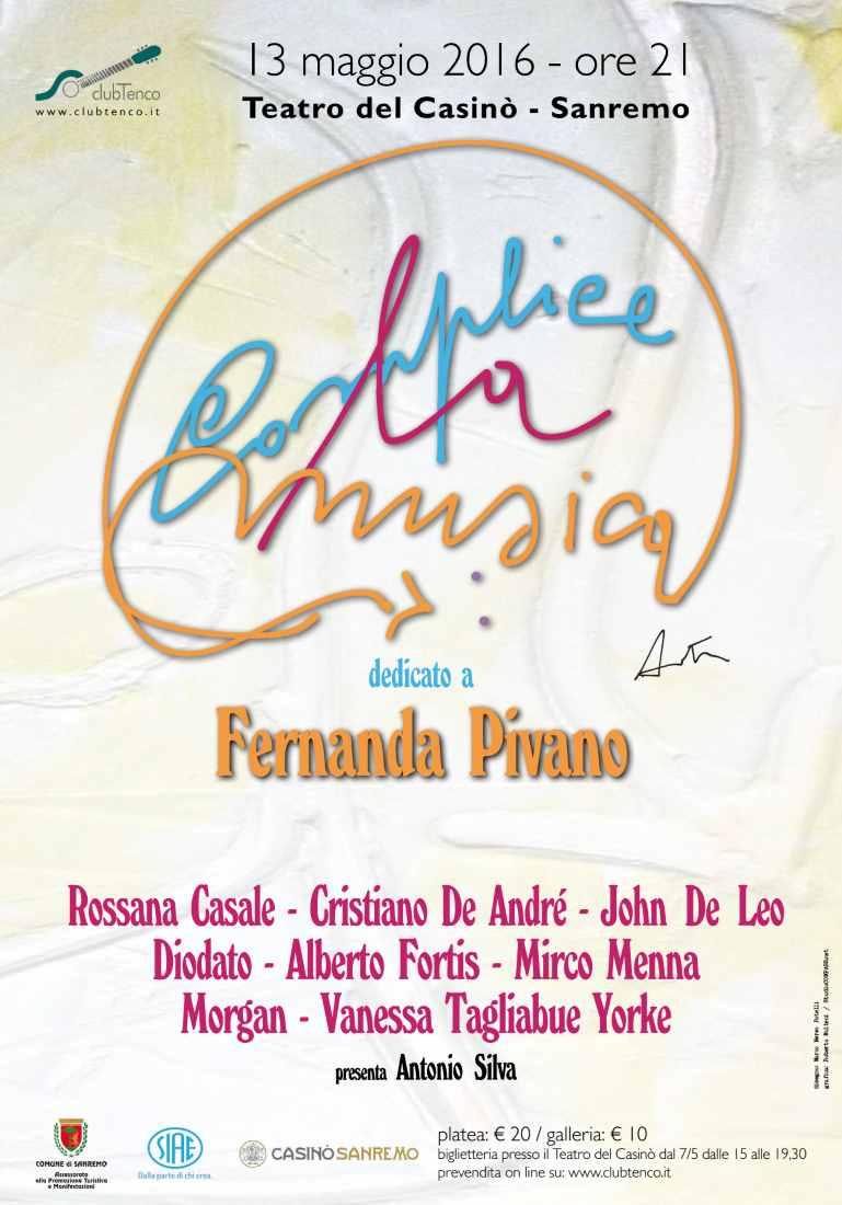 """Dedicato a Fernanda Pivano, """"complice la musica"""""""