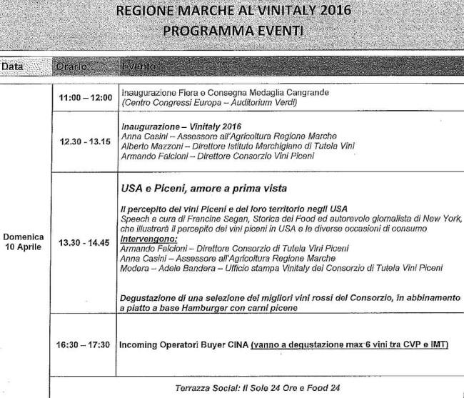 programma Vinitaly Marche
