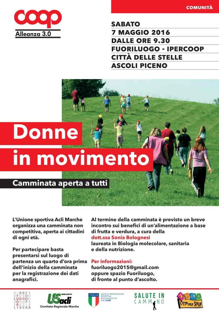 Donne in movimento il 7 maggio ad Ascoli