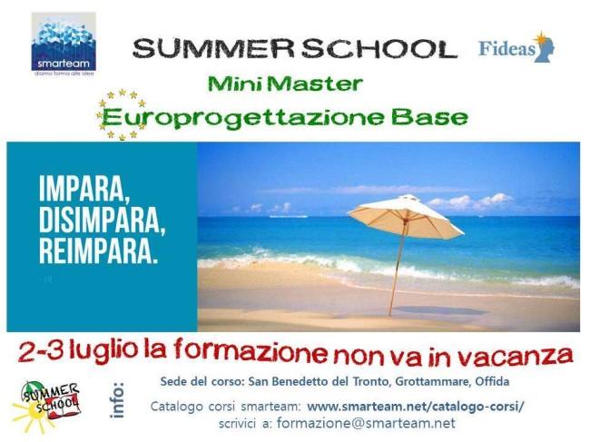 Summer School Mini Master Europrogettazione Base