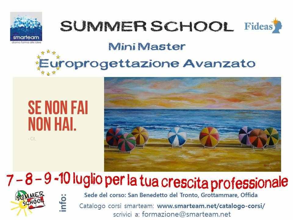 Summer School in Europrogettazione per la tua crescita professionale con Smarteam