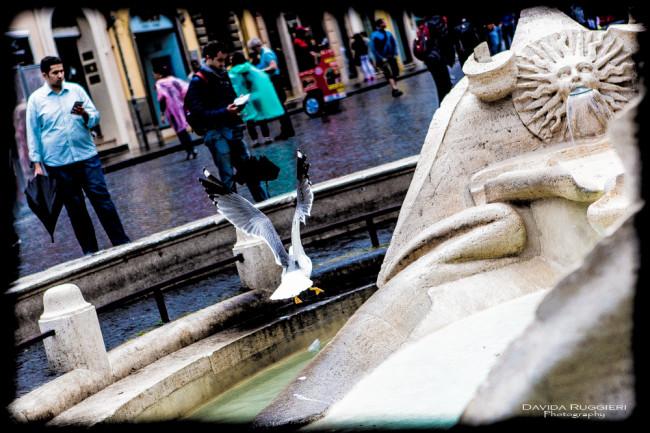 Turista a Piazza di Spagna, Roma 2016-06-02 - Barcaccia