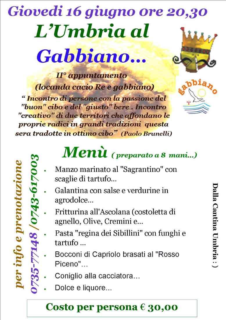 L'Umbria al Gabbiano di Cupra Marittima