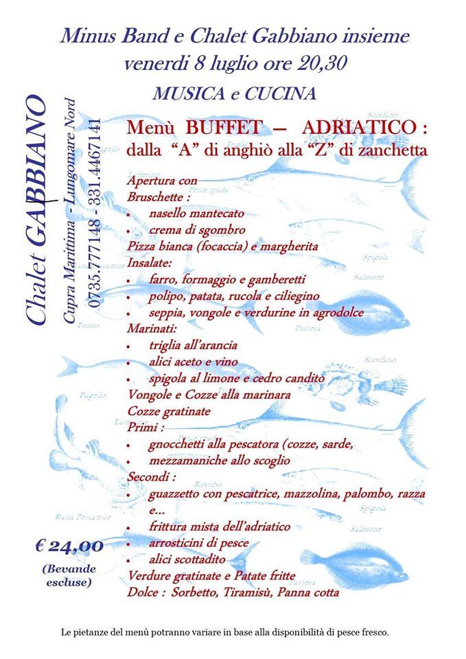 Cucina e Musica: tutti i pesci dell'Adriatico in 16 portate… al Gabbiano