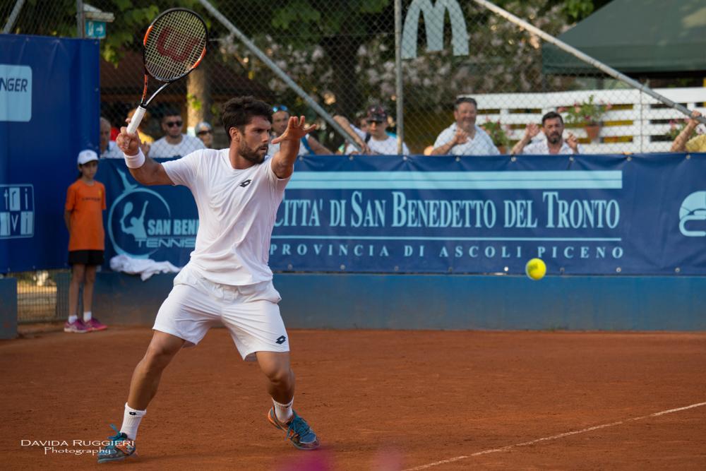 San Benedetto Tennis Cup: Super Quinzi, Gaio nei quarti, Giannessi abbandona per un malore