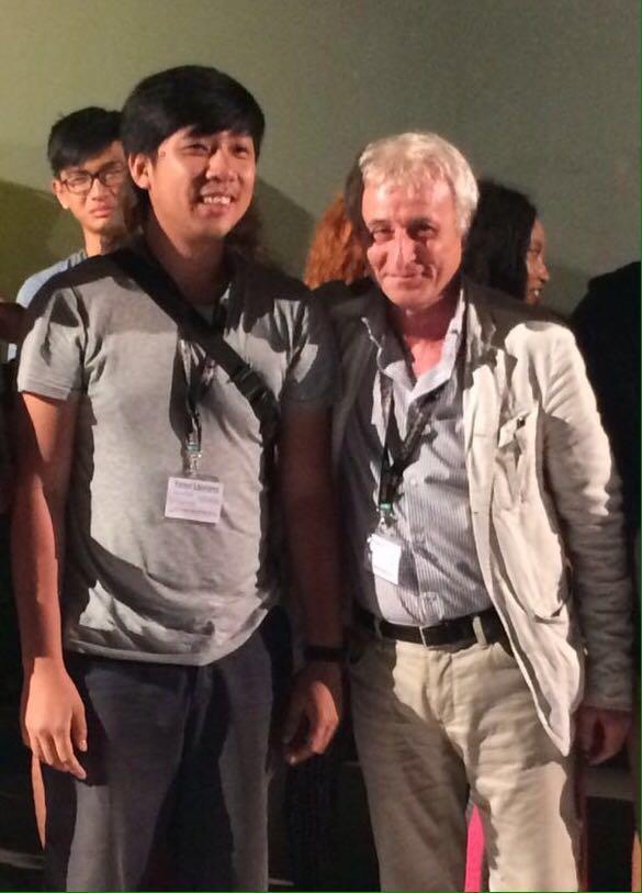 Franco Rina con il vincitore Yandy Laurens