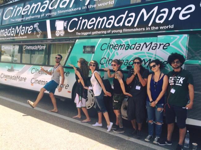 L'arrivo dei ragazzi di CinemadaMare a San Benedetto del Tronto