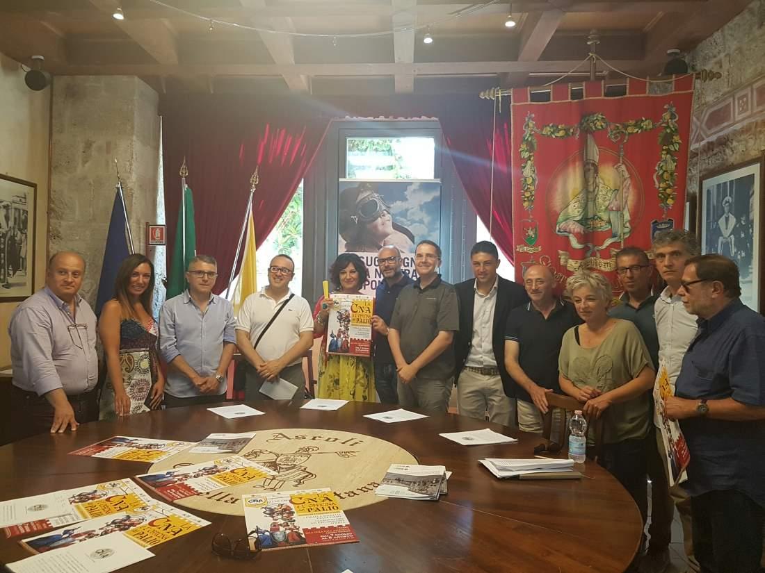 Cna e Quintana per il restauro del Palio Storico di Ferrari