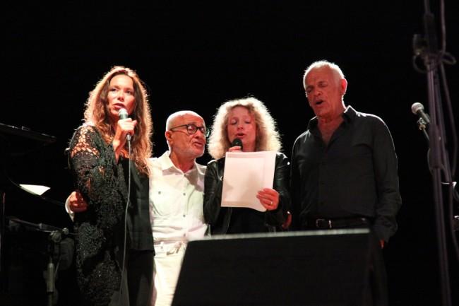 da sx Annick Cisaruk, Giuseppe Gennari, Christiane Courvoisier, Michel Hermon © Umberto Candiani 093