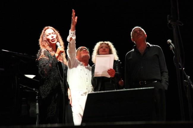 da sx Annick Cisaruk, Giuseppe Gennari, Christiane Courvoisier, Michel Hermon © Umberto Candiani