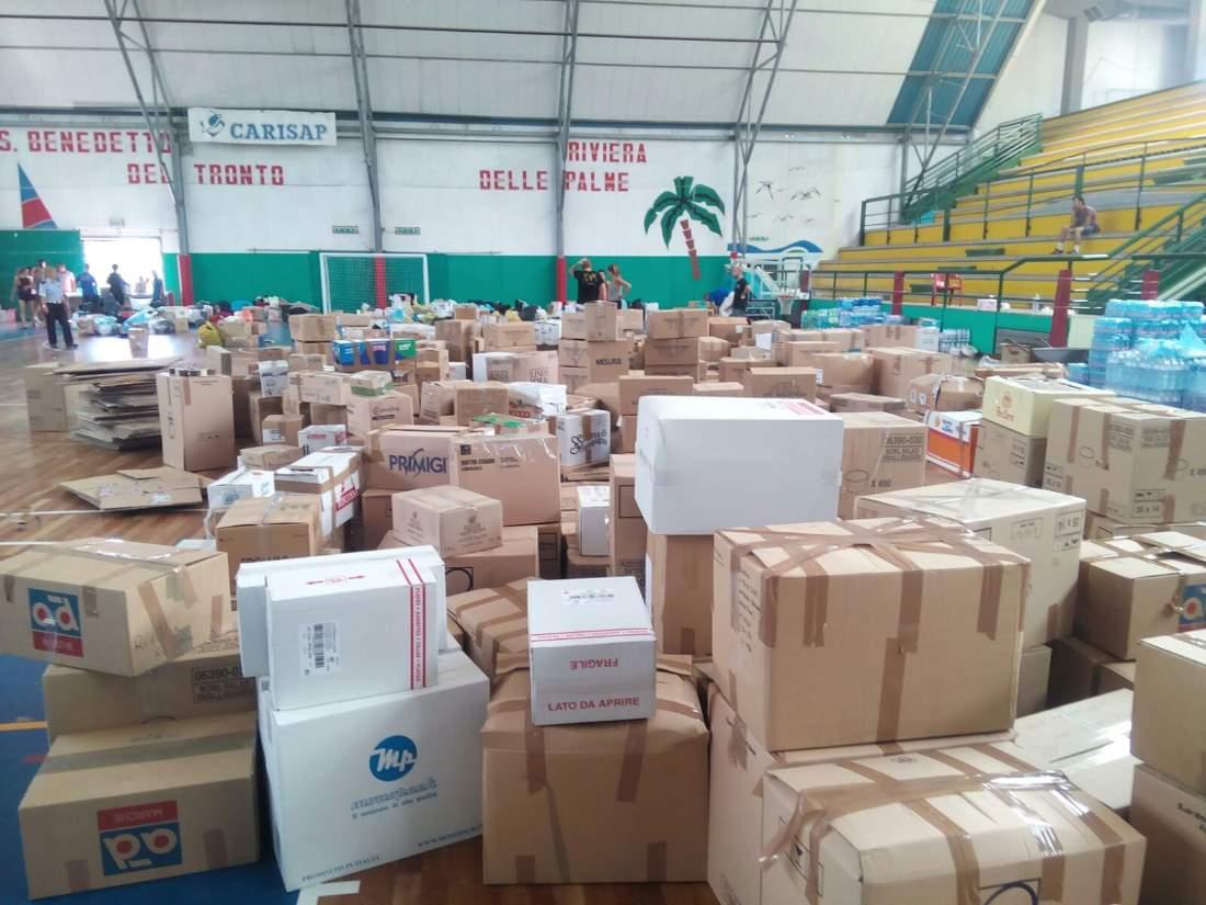 Terremoto, secondo carico di beni consegnato ad Arquata