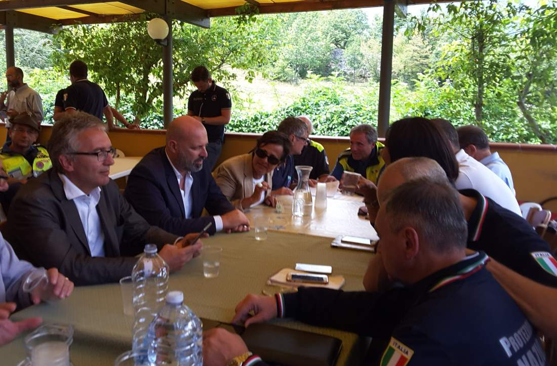 Sisma, Ceriscioli incontra Bonaccini e Curcio