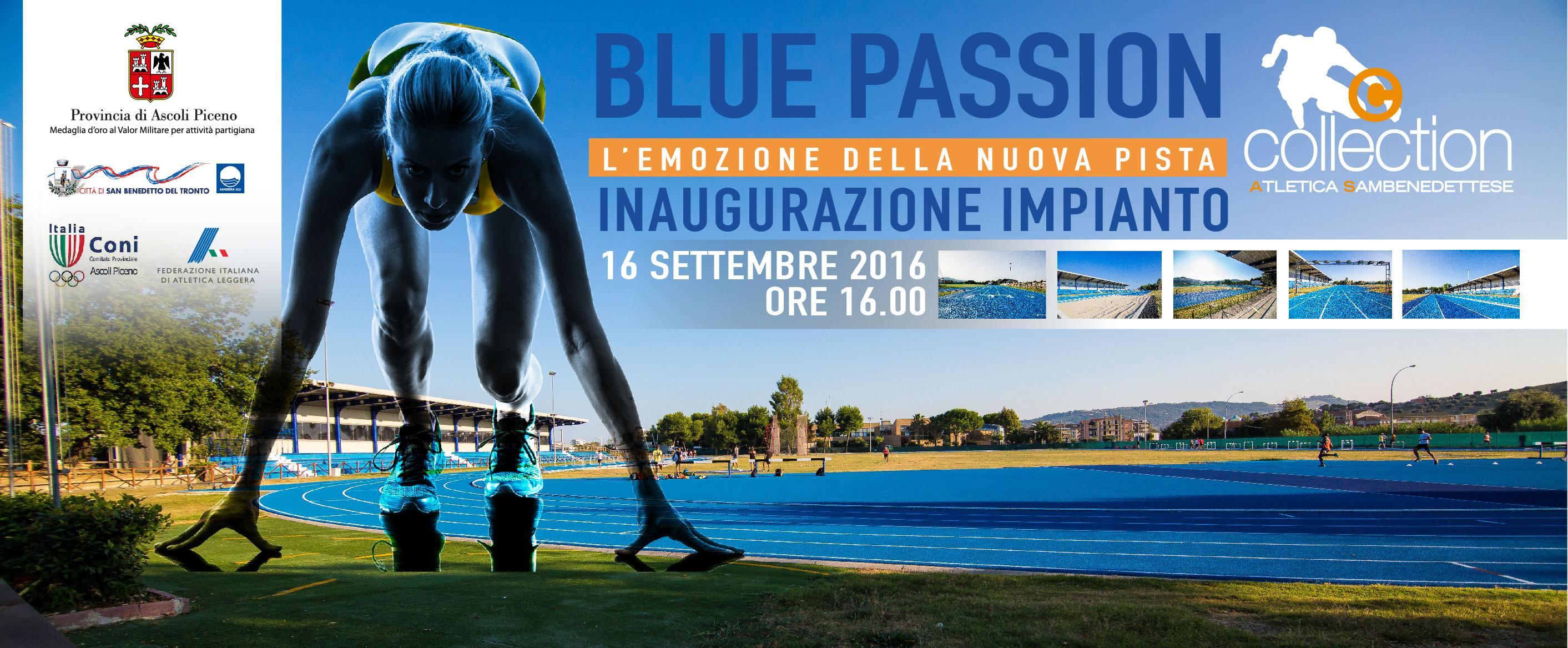 Blue Passion: inaugurazione della nuova pista di atletica