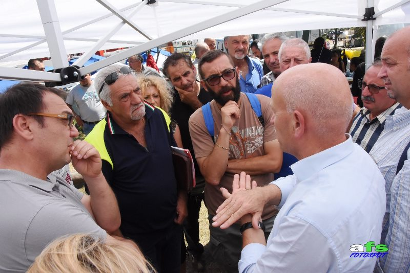 Confartigianato, Giorgio Merletti tra i terremotati di Arquata e Acquasanta