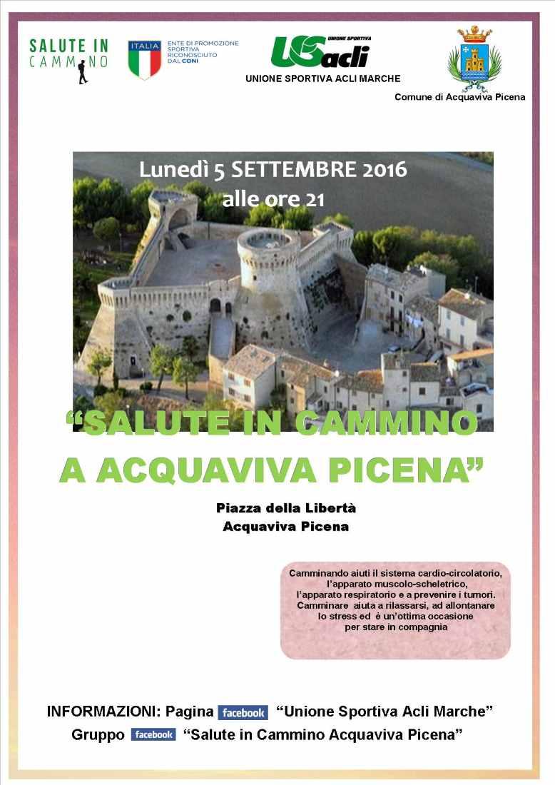 """Ancora un appuntamento con """"Salute in cammino"""" ad Acquaviva Picena"""