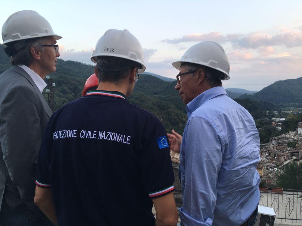 Errani e il presidente Ceriscioli ad Arquata incontrano gli amministratori locali
