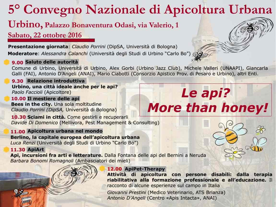 Apicoltura Urbana: Convegno Nazionale a Urbino