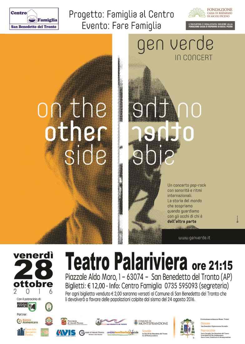"""""""On the other side"""", il concerto dedicato alla famiglia al PalaRiviera"""