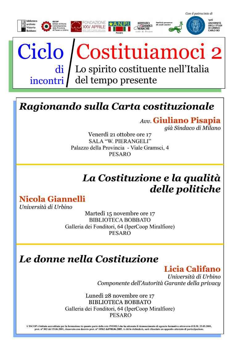 Lo 'spirito costituente' nell'Italia del tempo presente