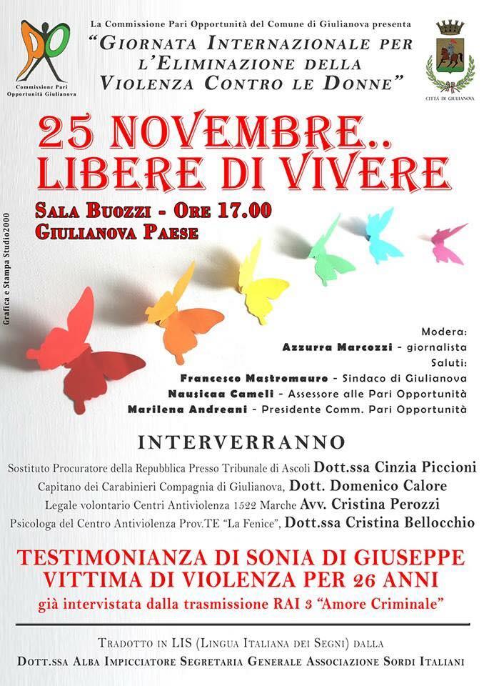 25 novembre... libere di vivere- Giulianova