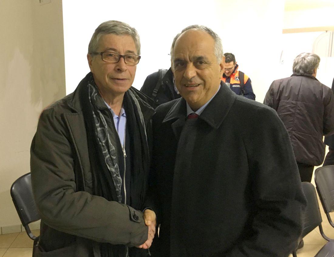 Incontro tra il commissario per la ricostruzione Errani e il rettore Adornato