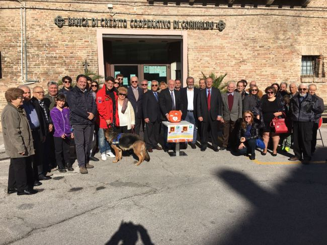 Defibrillatore in piazza a Castelleone