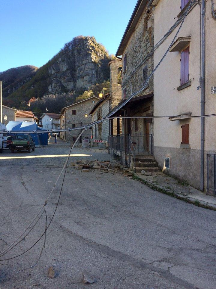 Sisma, situazione grave a Pietralta di Valle Castellana