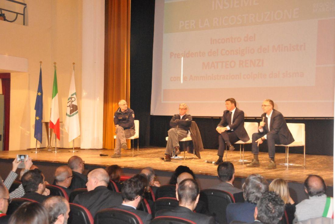 Incontro Premier Renzi e Sindaci dei Comuni colpiti dal Sisma: dichiarazione di Ceriscioli