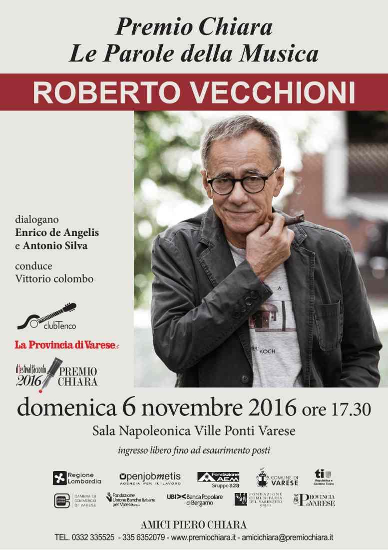 A Roberto Vecchioni il Premio Chiara/Club Tenco – Le parole della musica
