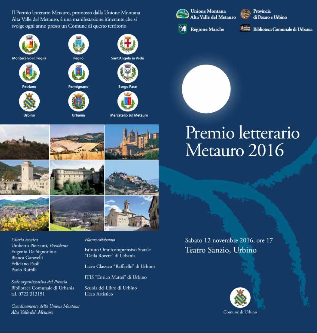 Al via il Premio Letterario Metauro