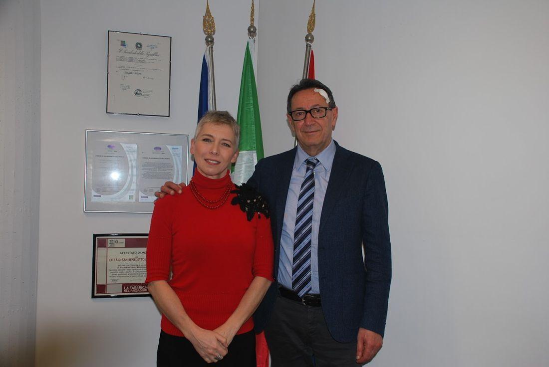 L'on. Irene Pivetti è stata in visita presso il Centro Agro-Alimentare San Benedetto